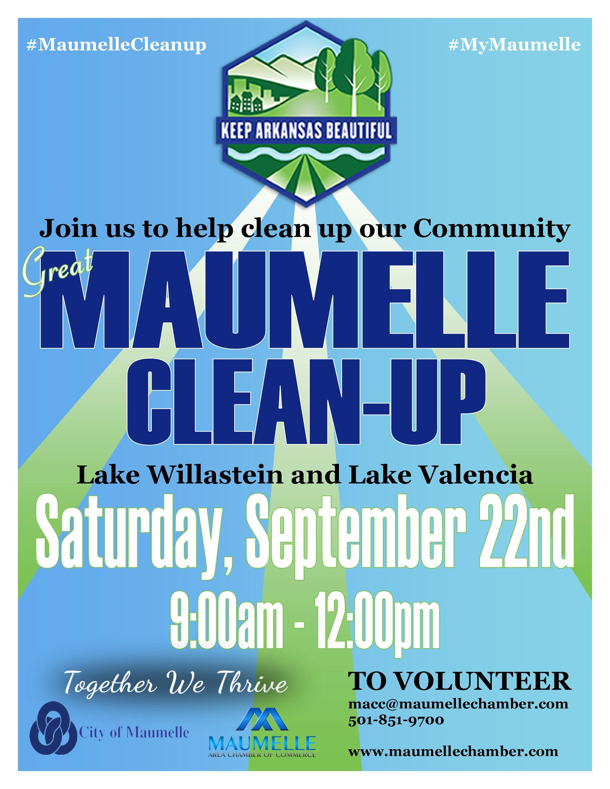 Great Maumelle Cleanup Flyer