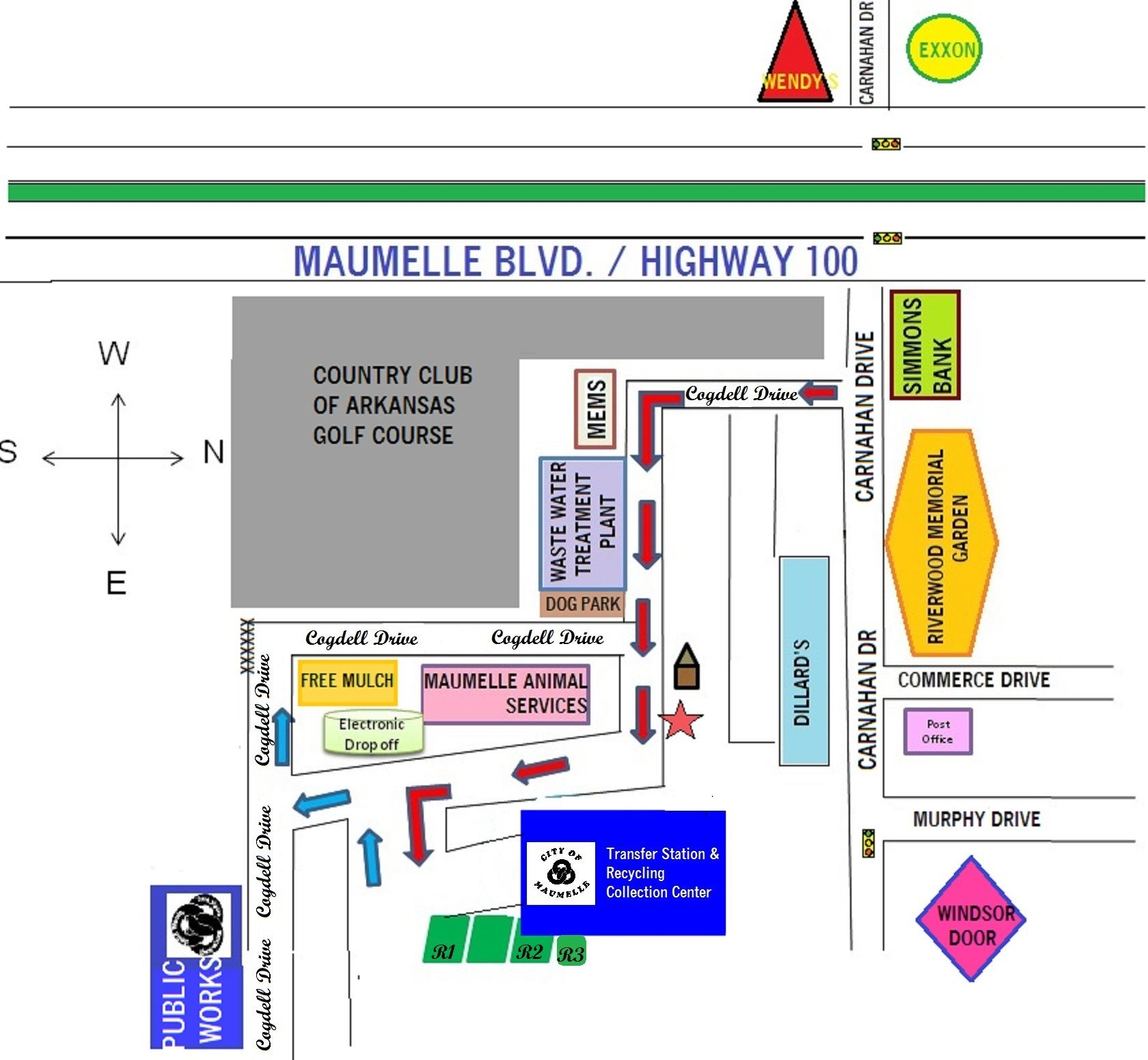 Map of Maumelle transfer station