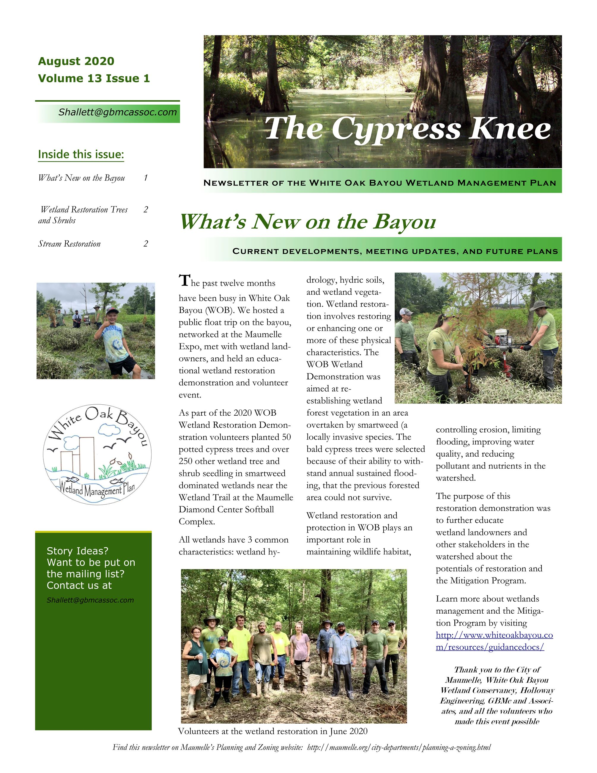 Whats New in the Bayou Newsletter